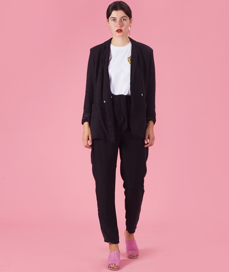 POP COPENHAGEN Cupro & Silk Blazer black