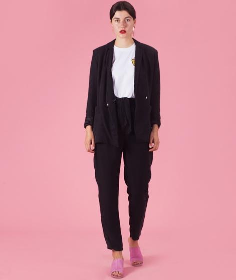 POP COPENHAGEN Cupro & Silk Blazer black