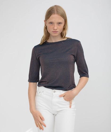 KAUF DICH GLÜCKLICH T-Shirt blau Lurex