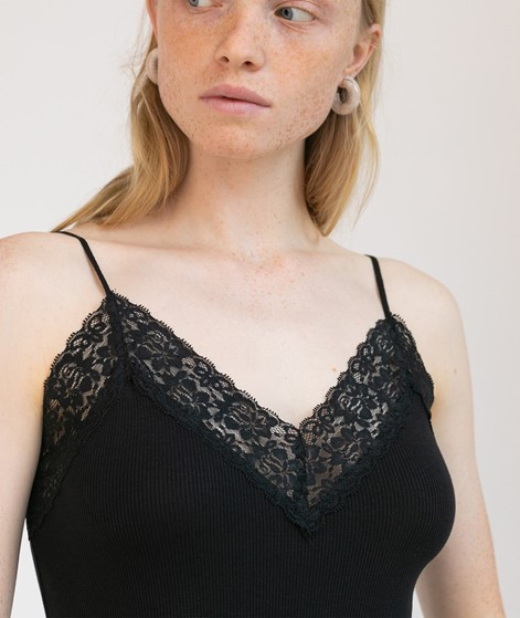 SELECTED FEMME SFMio Rib Lace Top black