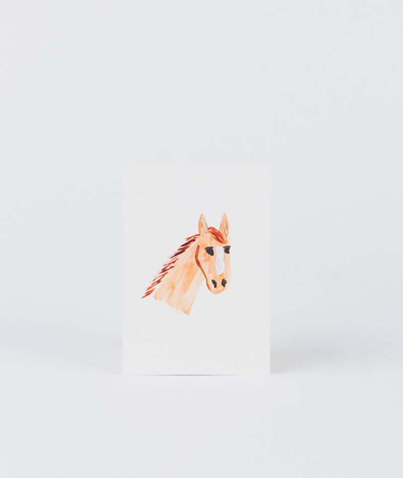 KAUF DICH GLÜCKLICH Postkarte Pferd