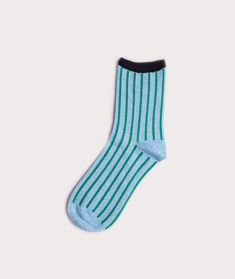 UNMADE CPH Solid Stripe Socken blue gree