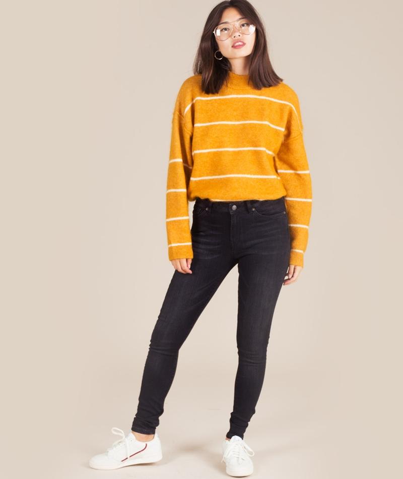 SELECTED FEMME Ida MW Skinny Jeans black