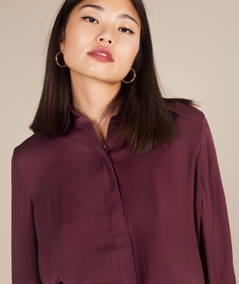 MOSS CPH Blair Polysilk Bluse grape