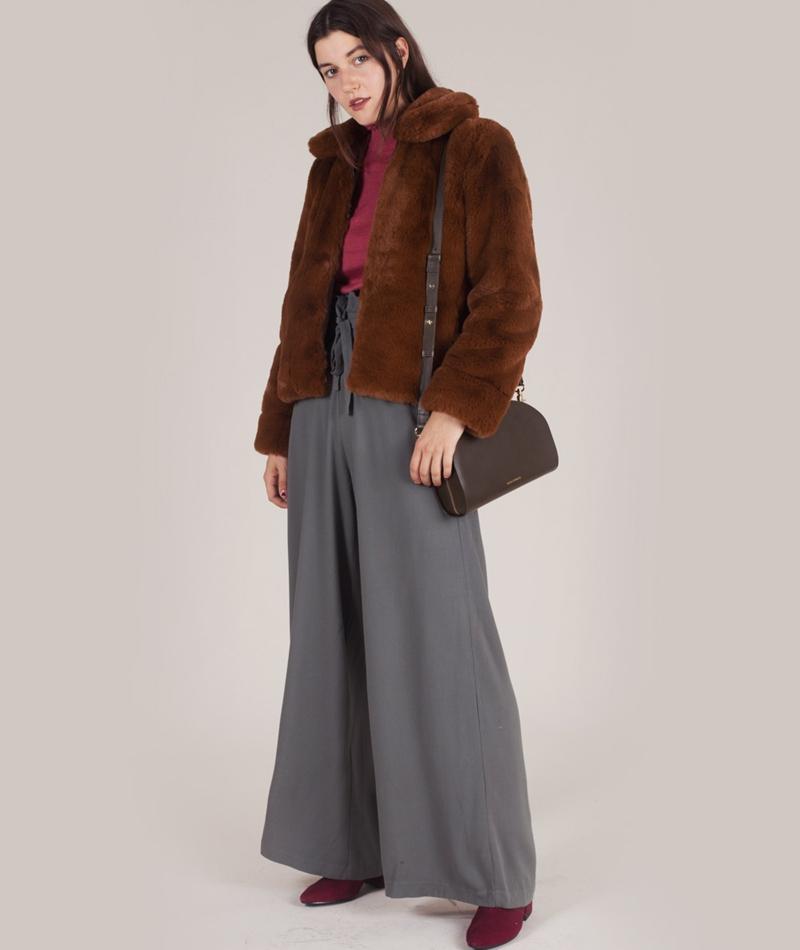 selected femme aya faux fur jacke. Black Bedroom Furniture Sets. Home Design Ideas