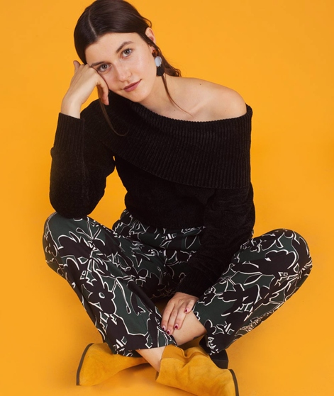 VILA Vichenni Cowel-N Pullover black