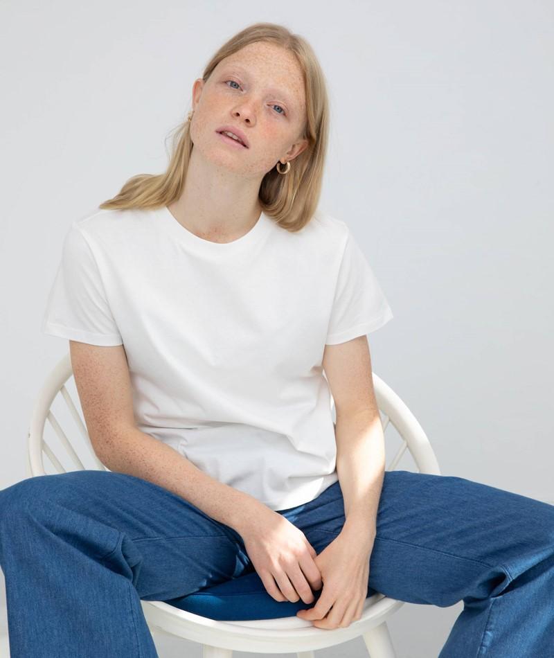 KAUF DICH GLUECKLICH Camille Organic Cotton T-Shirt weiss