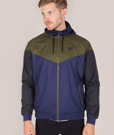 NIKE Windrunner Jacke midnight navy/oliv