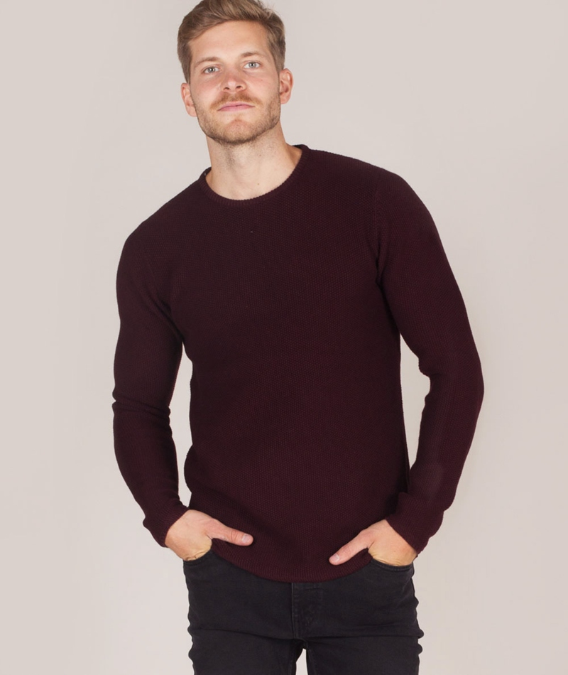 REVOLUTION Orla Pullover darkred