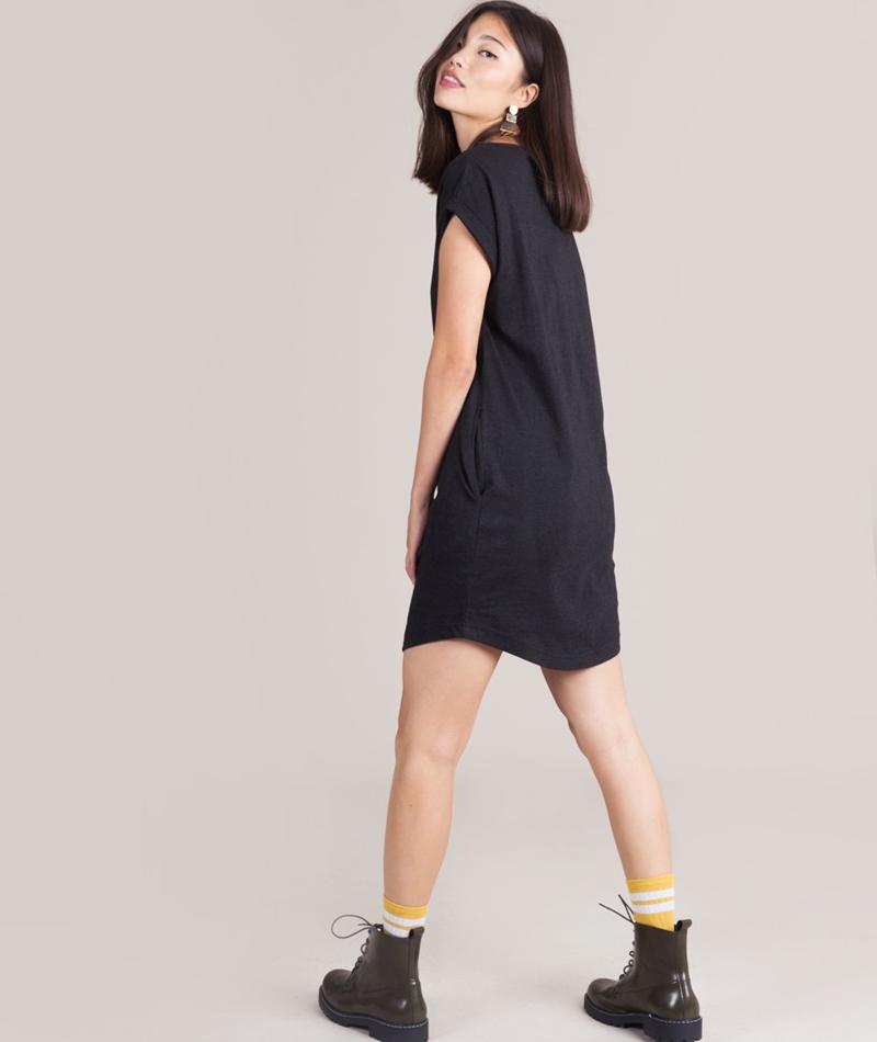 WEMOTO New Kano Kleid black melange