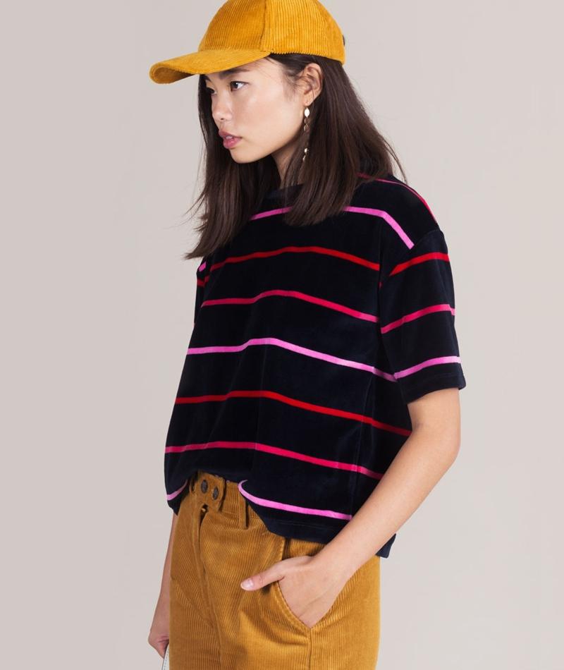 KAUF DICH GLUCKLICH Alma Samt T-Shirt striped