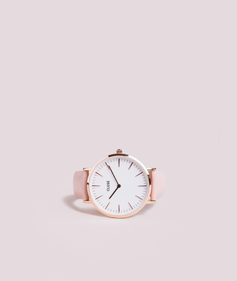 CLUSE La Bohéme Uhr rosegold white/pink