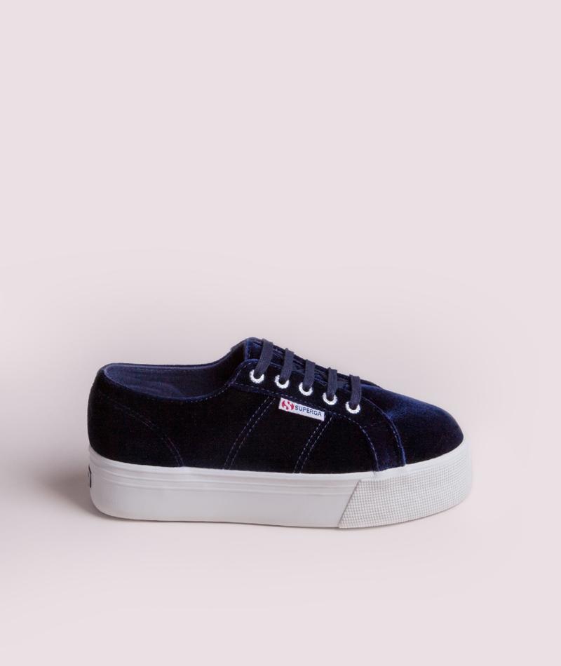 SUPERGA Velvetpoly Sneaker blue