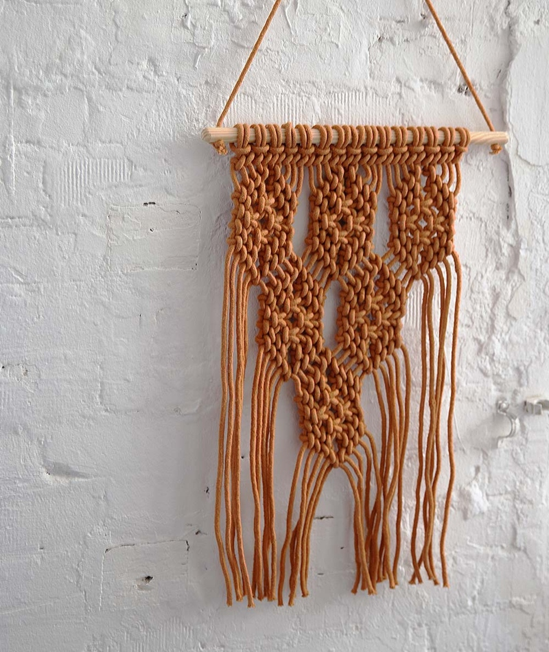 LIV Macrame Wallhanging Diamond sierra