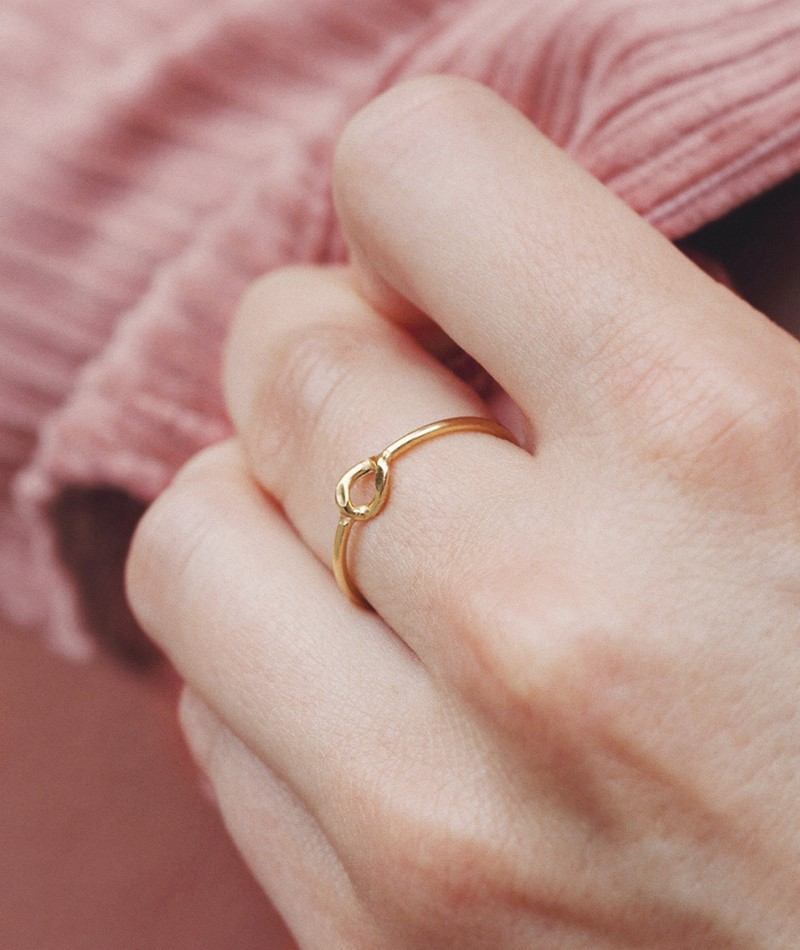 JUKSEREI Cleo Ring gold plated silver