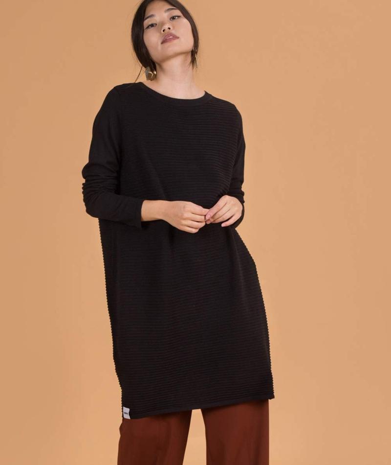 WEMOTO Midi Kleid black