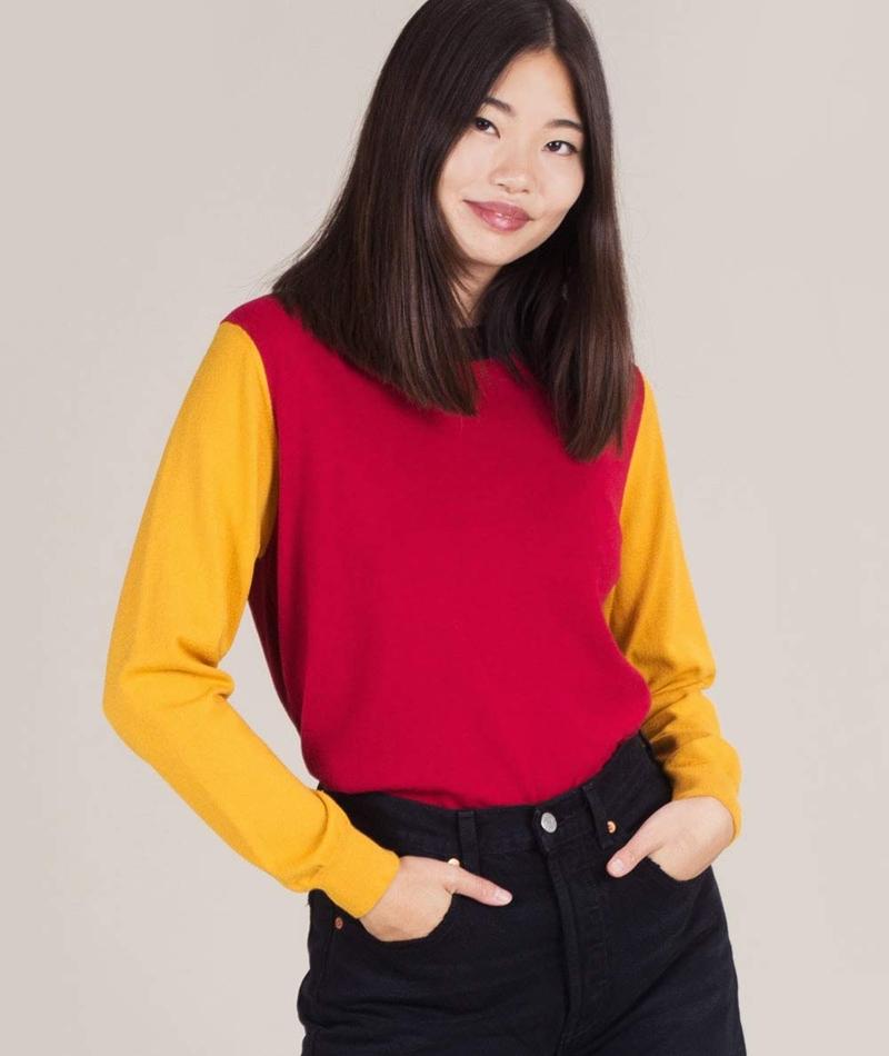 KAUF DICH GLÜCKLICH Pullover yellow red