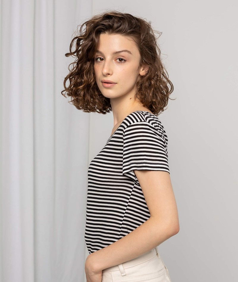 MBYM Lucianna T-Shirt black sugar stri
