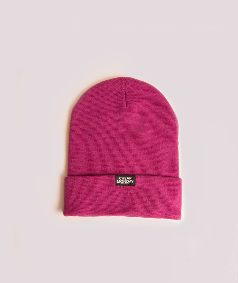 CHEAP MONDAY Cheap Beanie Mütze cerise