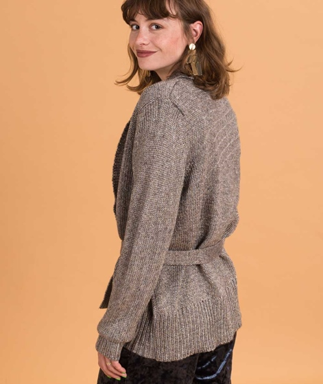 VILA Vicleared Metallic Cardigan dark grey