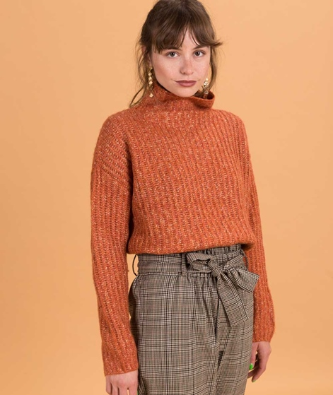 SECOND FEMALE Ambra T-Neck Pullover carnelian