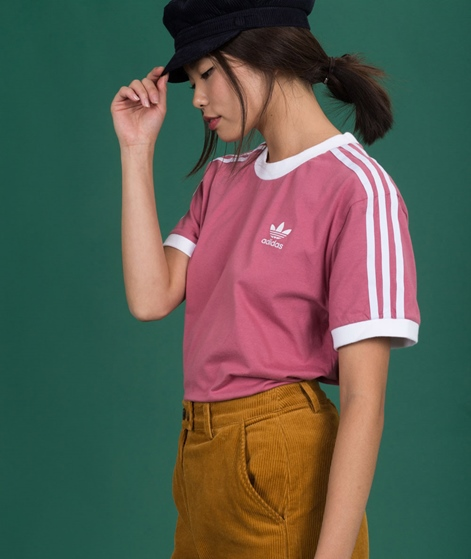 ADIDAS 3 Stripes T-Shirt trace maroon