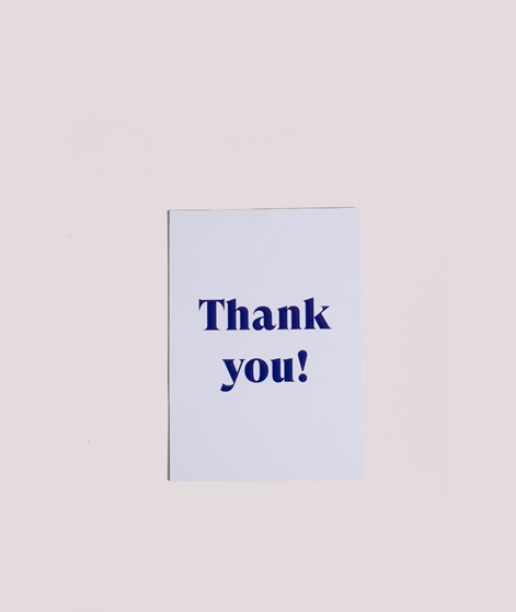 KAUF DICH GLÜCKLICH Postkarte Thank you!
