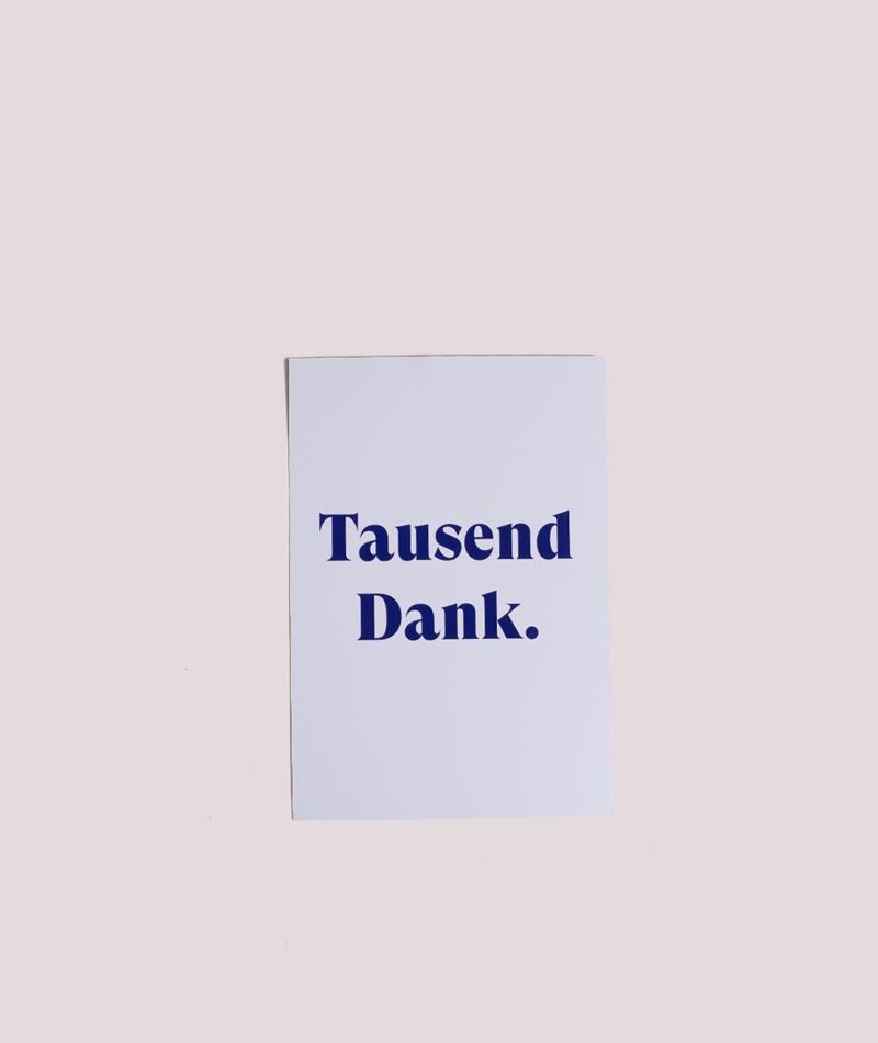 KAUF DICH GLÜCKLICH Postkarte Danke