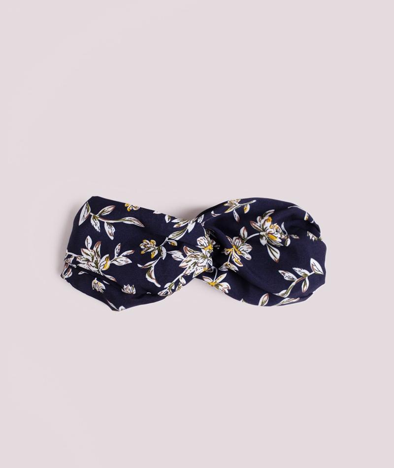EBBA Haarband mit Blumenprint blau