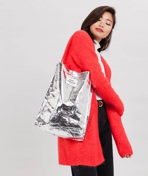 MADS NORGAARD Bag H Shopper silver/red