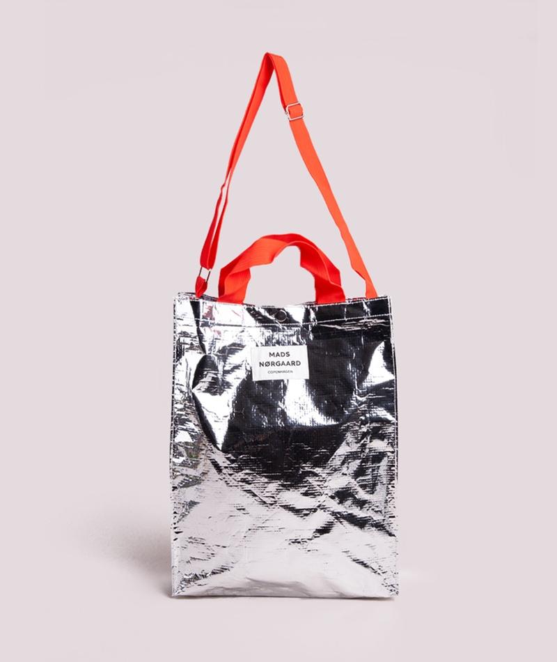 MADS NORGAARD Bag H Shopper silver/red