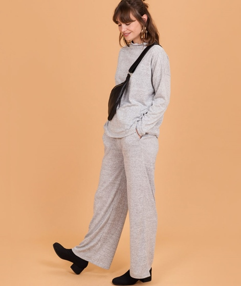 VILA Vilune Wide Knit Hose light grey me
