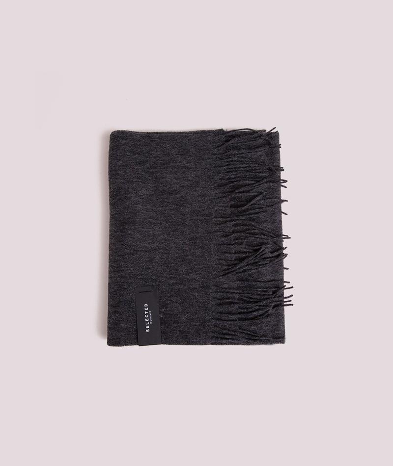 SELECTED HOMME Tope Wool Schal grau