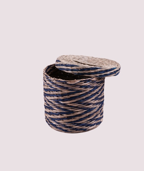 BLOOMINGVILLE Basket Seagrass blue 20x18
