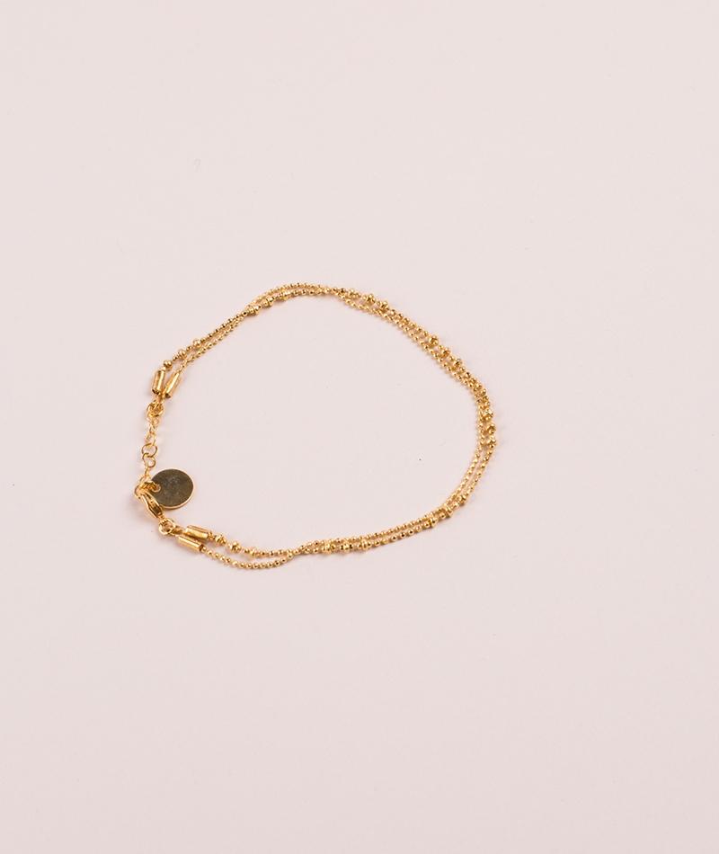 TOMSHOT Structure Armband gold