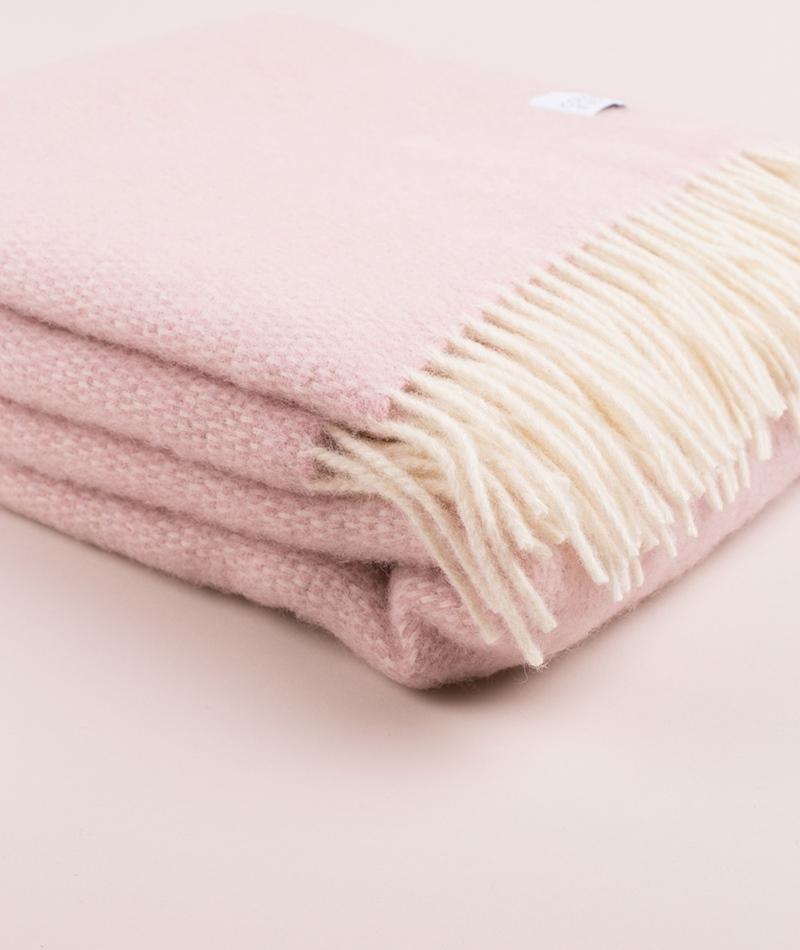 COUDRE BERLIN Wool Blanket pink marble