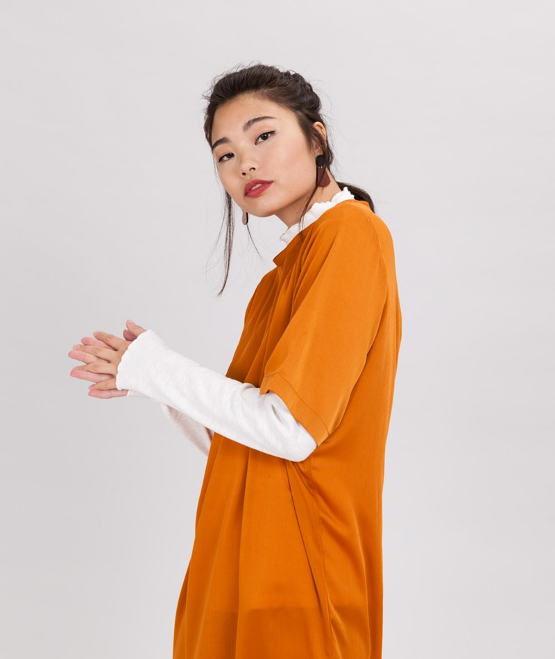 NATIVE YOUTH Beauvale Kleid rust