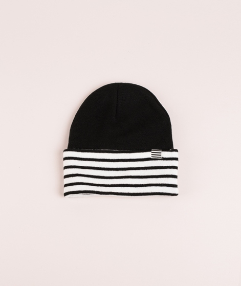 MADS NORGAARD Ambas Mütze black/striped