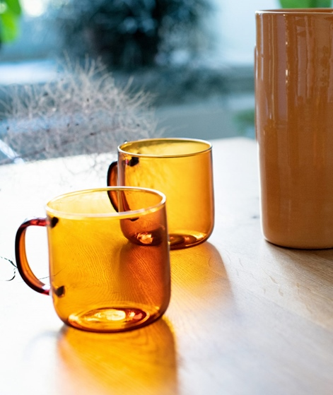 HAY Boroslicate Mug amber