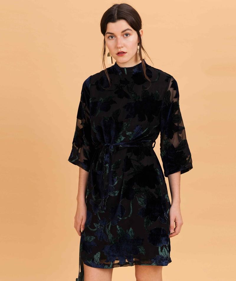 ANOTHER LABEL Rivington Kleid black iris