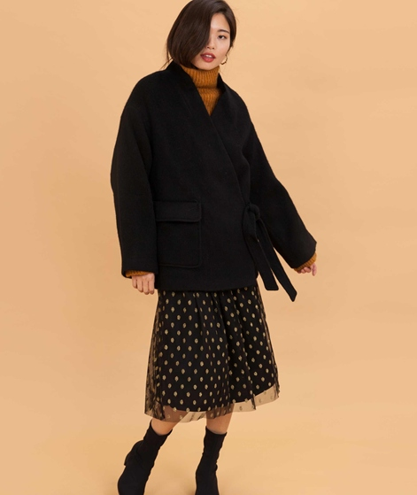 NATIVE YOUTH KekoKimono Mantel black