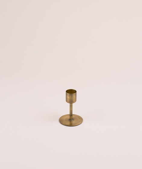 HOUSE DOCTOR Candle Stand antique brass