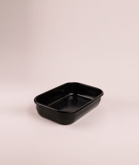 MADAM STOLTZ Enamel Baking Pan s black/w