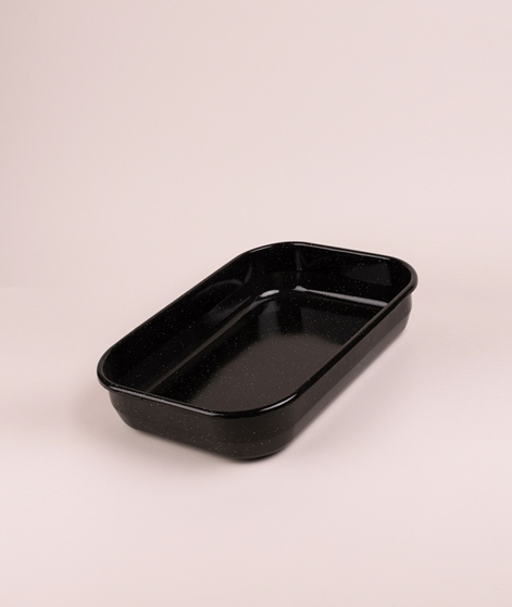 MADAM STOLTZ Enamel Baking Pan l black/w