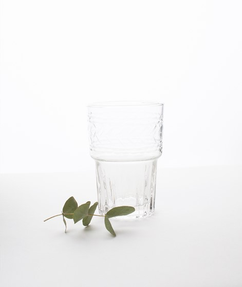 MADAM STOLTZ Drinking Glass w Cutting