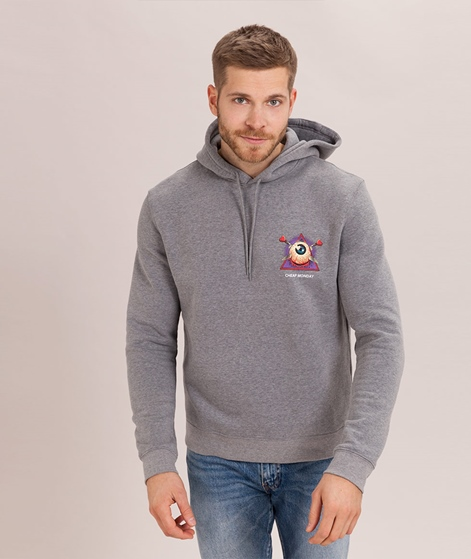 CHEAP MONDAY Worth Hoodie Eye Ball grey