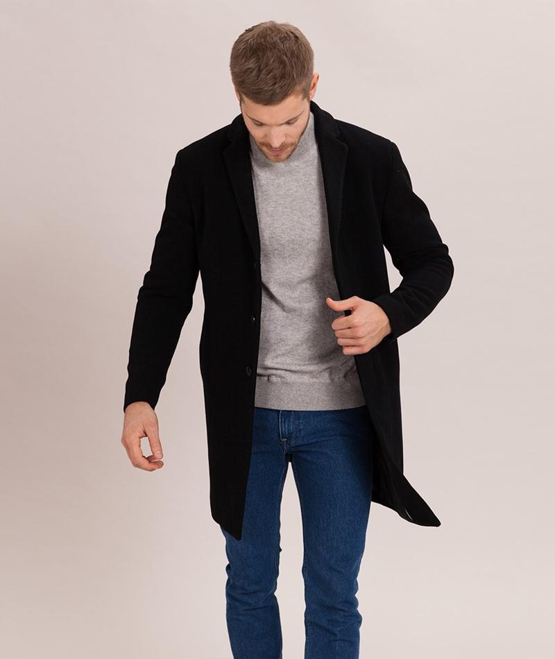 SELECTED HOMME Brove Wool Mantel black