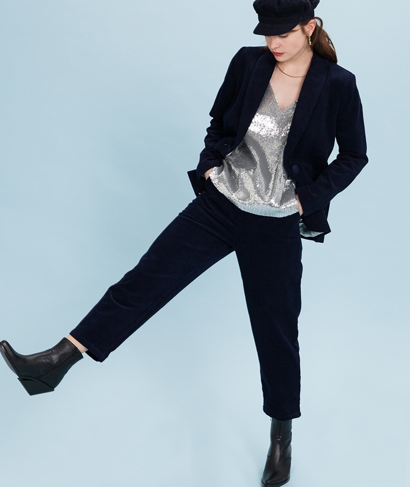 MINIMUM Concha Hose navy blazer