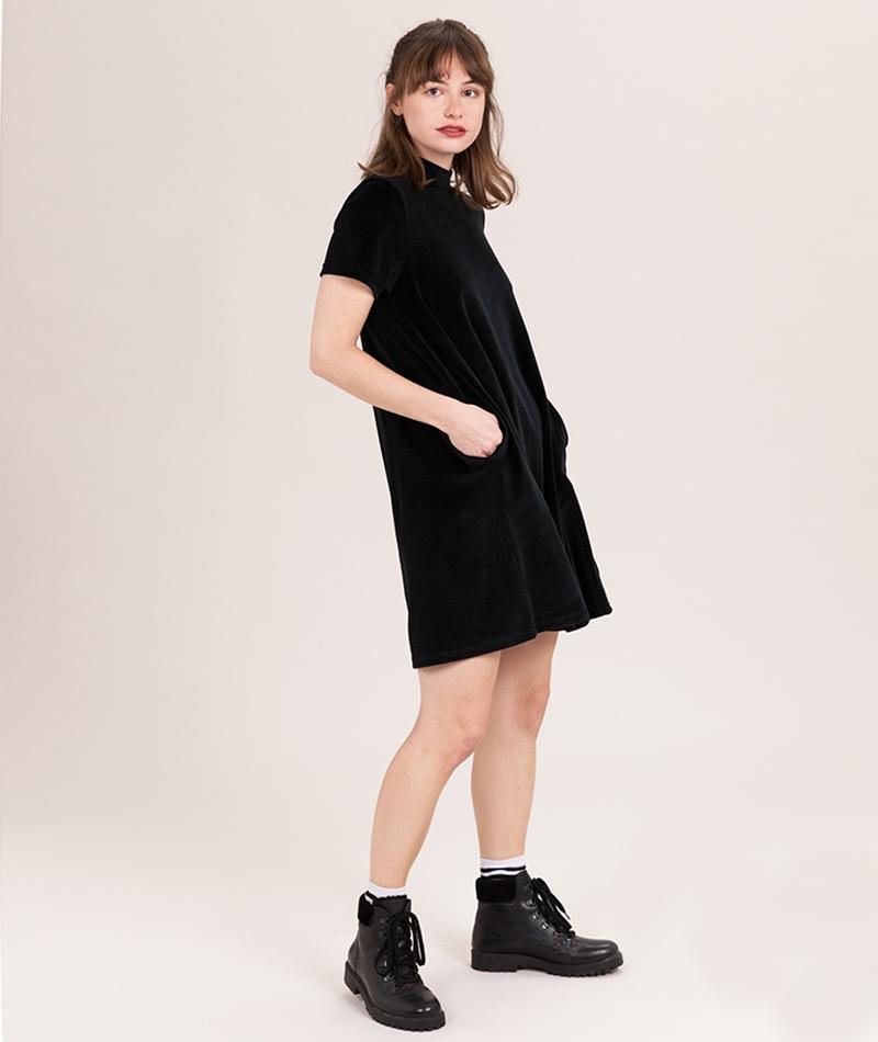 CHEAP MONDAY Mystic Velvet Kleid black