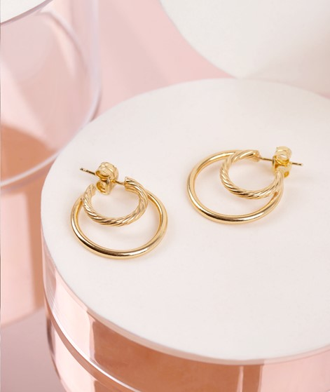 JUKSEREI Ines Hoops Ohrringe gold